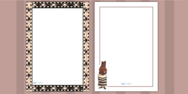 Benin AD 900 1300 Page Borders - writing aid, writing template