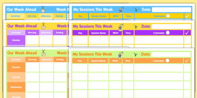 SEN Weekly Home Educator Planner - sen, educator, home, planner