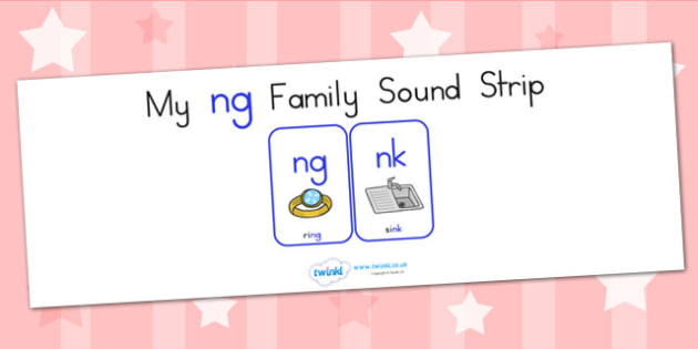 My Ng Family Sound Strip - sound family, visual aid, literacy