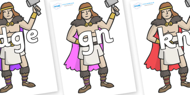 Silent Letters on Viking Warriors - Silent Letters, silent letter, letter blend, consonant, consonants, digraph, trigraph, A-Z letters, literacy, alphabet, letters, alternative sounds