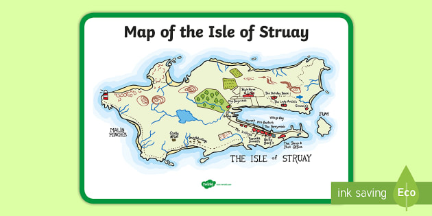 Map of the Isle of Struay Display Poster to Support Teaching