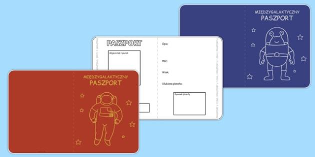 Międzygalaktyczny paszport po polsku - kosmos, planety