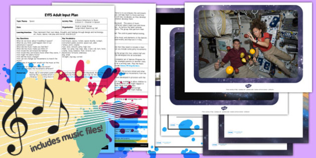 Space Adventure Music Lesson 3 Disaster Space EYFS Adult Input Plan