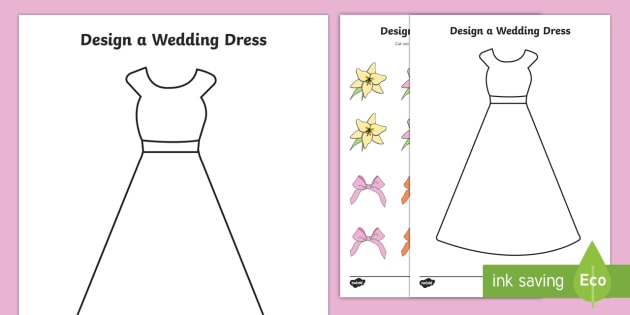 Design a wedding dress wedding weddings fine motor skills design a wedding dress wedding weddings fine motor skills colouring designing junglespirit Images