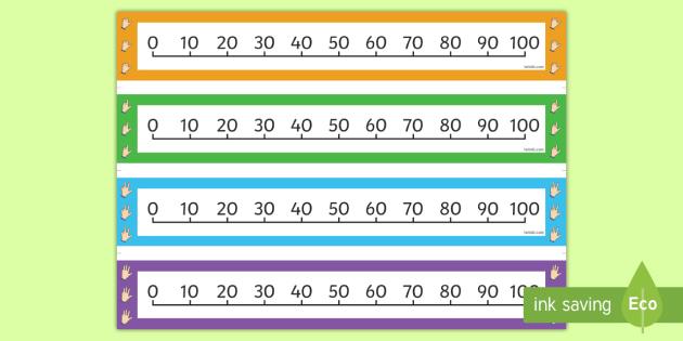 In Zehnerschritten zählen Zahlenstrahl - addieren
