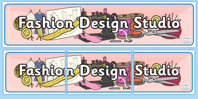 Fashion Design Studio Role Play Banner - fashion design studio, role play, banner, role play banner, header, fashion design studio banner, role play banner