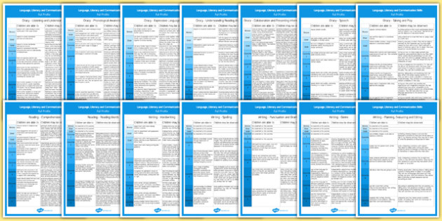 Literacy Language and Communication Skills Display Posters Full and Compact Versions Welsh - welsh, cymraeg, literacy, language, communication, posters