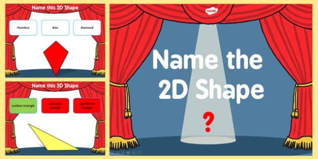 Name the 2D Shape Year 5 PowerPoint Quiz - quiz, 2d, shape, 5