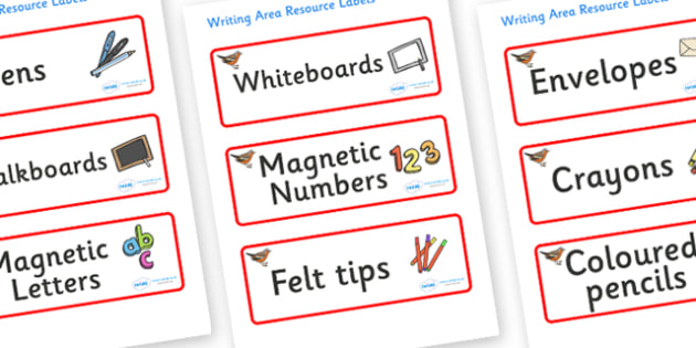 Chaffinch Themed Editable Writing Area Resource Labels - Themed writing resource labels, literacy area labels, writing area resources, Label template, Resource Label, Name Labels, Editable Labels, Drawer Labels, KS1 Labels, Foundation Labels, Foundat