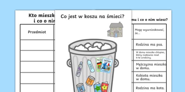 Wnioskowanie na podstawie kosza na śmieci po polsku