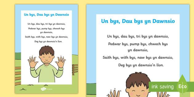 Un Bys, Dau Bys yn Dawnsio Hwiangerddi Cymreig - Hwiangerddi Cymreig (Welsh Nursery Rhymes), canu, cerddoriaeth, Cymraeg, Iaith, cyfnod sylfaen, ardd