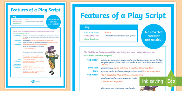 writing a play script year 5 curriculum