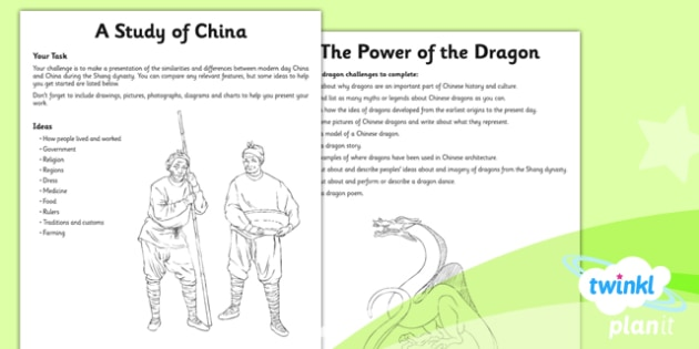 History: The Shang Dynasty UKS2 Unit Home Learning Tasks