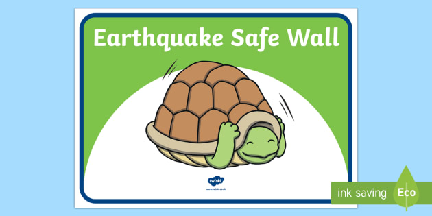Turtle safe walls Information Cards - earthquake, safe walls, ruaumoko, turtles, disaster, natural disaster