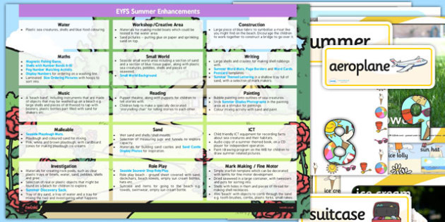 EYFS Summer Themed Enhancement Ideas and Resources Pack - planning, summer