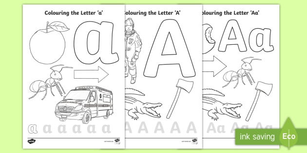 Letter A Coloring Pages Teacher Made