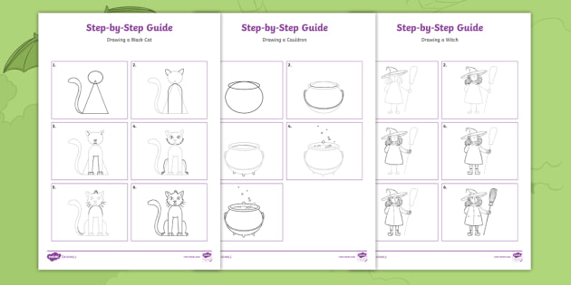 New A Magical Muddle Step By Step Drawing Instruction