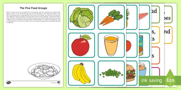 New Ks1 The Five Food Groups Worksheet Balancedt Healthy Eating