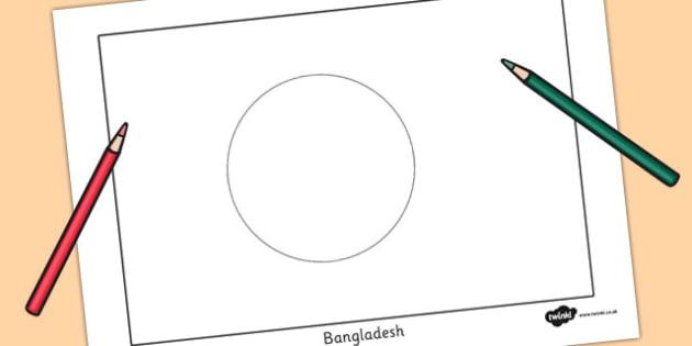 Bangladesh Flag Colouring Sheet - countries, geography, flags