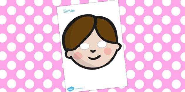 Simple Simon Role Play Masks - australia, role-play, masks, simon