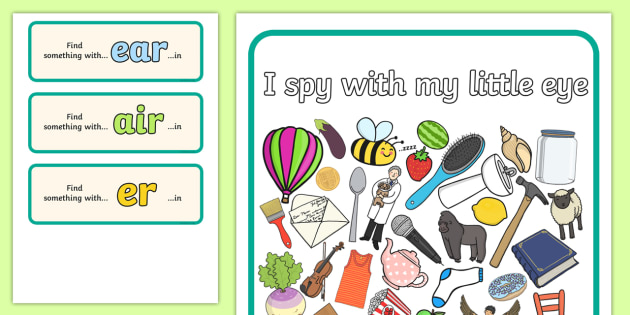I Spy Phase 3 Graphemes 5 - I Spy, phase 3 graphemes, activity, phase 3, graphemes
