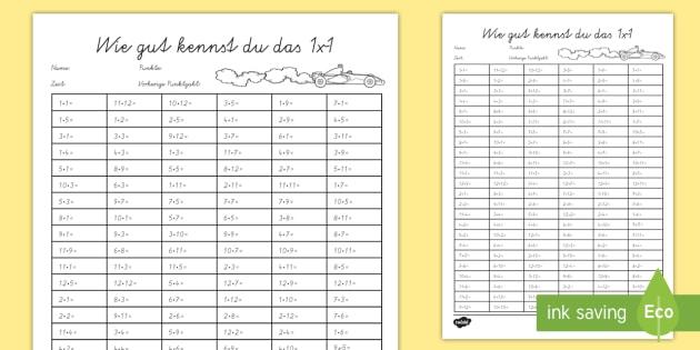 wie gut kennst du das 1x1 arbeitsblatt times tables challenge maths 1x1. Black Bedroom Furniture Sets. Home Design Ideas