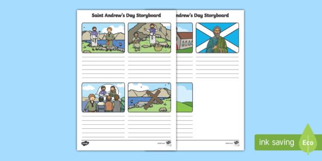 KS1 Saint Andrew's Day Storyboard Template