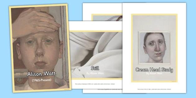Scottish Artist Alison Watt Photo Pack - cfe, scottish, artist, photo pack, photo, pack, alison watt
