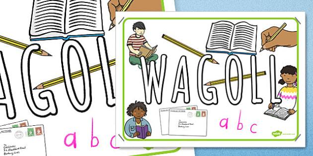 WAGOLL English Themed Display Poster - wagoll, english, display poster