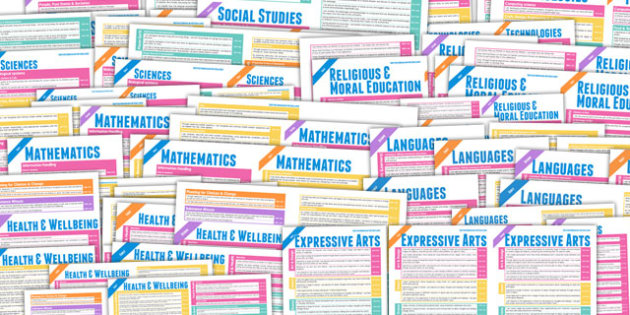 Scottish Curriculum For Excellence Overview Posters Early Second