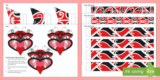 Taniwha Paper Chain Craft