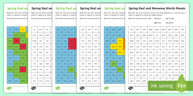 Spring Phase 3 Phonics Mosaic Worksheet / Worksheet - Spring ...