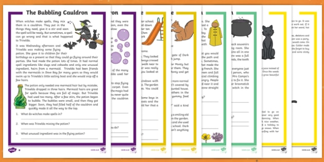 Delightful Halloween Differentiated Reading Comprehension Activity Pack