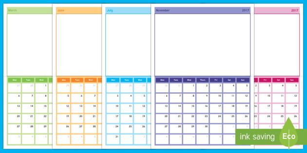 2017 Photo Class Display Calendar - Calendar, photo calendar, academic year