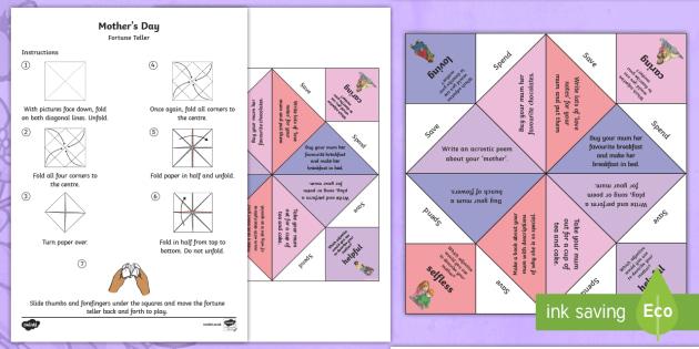 Editable Fortune Teller (teacher made) | 315x630
