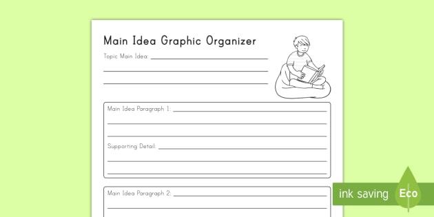 Multiparagraph Main Idea Graphic Organizer Worksheet / Worksheet