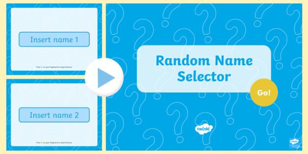 Random Name Generator PowerPoint - random name selector, name selector