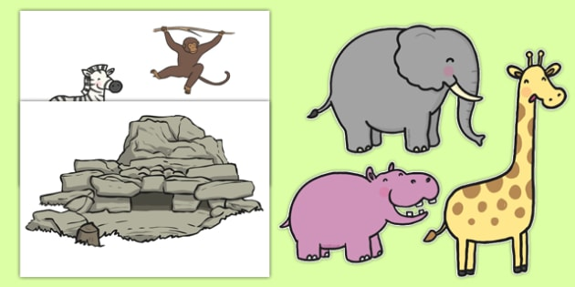 Zoo Animal Themed Wall Decals - EYFS, Early Years, animals, zoo, wild, nature, endangered,aniamls