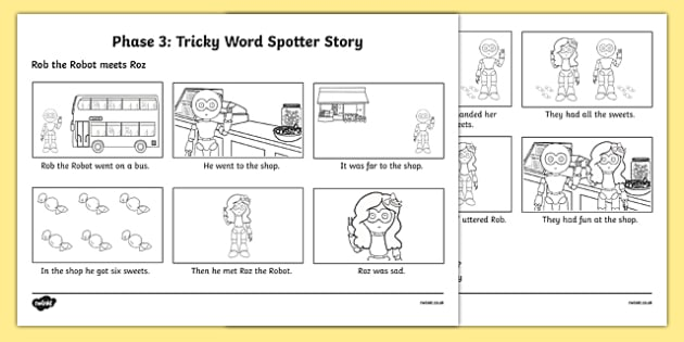 Phase 3 Tricky Word Spotter Story