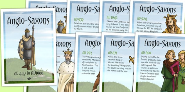 Anglo Saxons Timeline Posters - anglo saxon, timeline, history