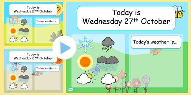 weather and seasons interactive chart powerpoint powerpoint