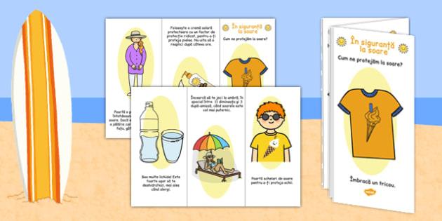 Siguranța la soare - Broșură informativă - soare, vară, siguranta, brosură, informații, ochelari, activitate, materiale didactice, română, romana, material, material