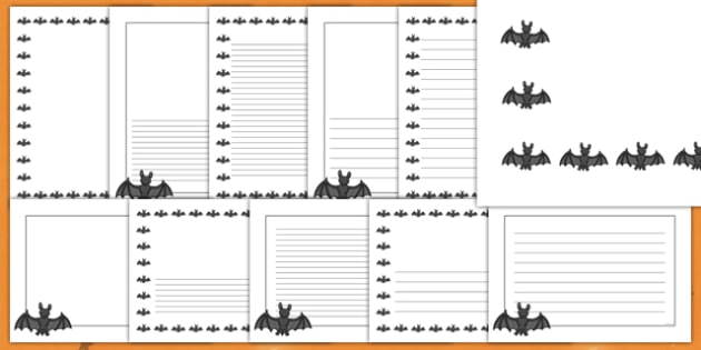 Halloween Bat Page Border Pack