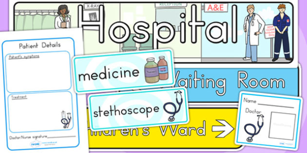 Hospital Role Play Pack - hospitals, doctors, roleplay, role play