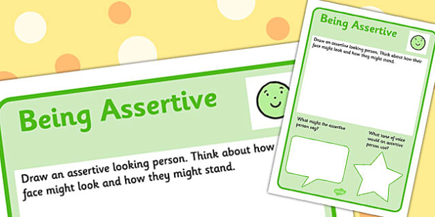Assertive Worksheet Worksheets Emotions Confidence Assertive