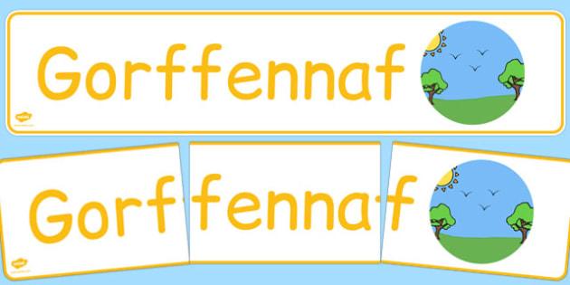 Gorffennaf Display Banner Cymraeg - cymraeg, year, months of the year, july