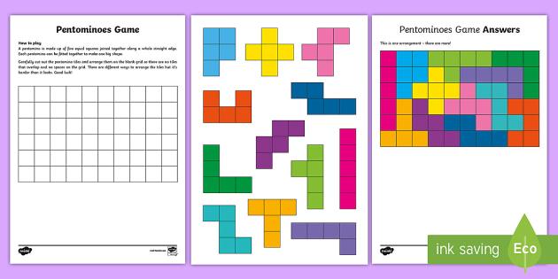 pentominoes homework answers