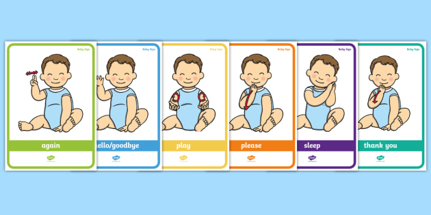 baby sign language poster pack everyday signs baby sign sign rh twinkl co uk