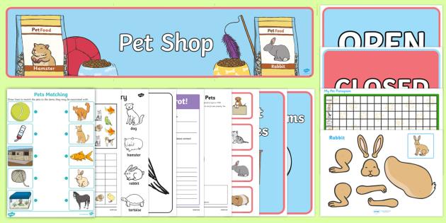 Top Ten Pets Resource Pack - Pets, pet shop, vets, my pets