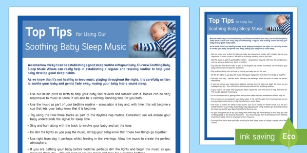 Top Tips for Using Our Baby Soothing Baby Sleep Music Parent and